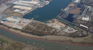 Newport docks - Land South of Cemex, Newport - Commercial land plot for rent - 2.25 acres
