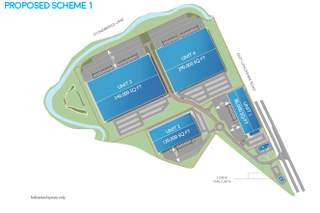 Site Plan for Proposed Scheme 1