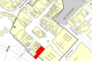 Goad Map for Friars Square Shopping Centre