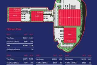 Site Plan for Reading International Logistics Park