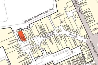 Goad Map for The Arcades Shopping Centre