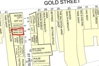 Goad Map for Gold Street Mews