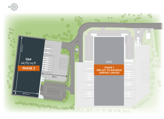 Site Plan - G64 St Modwen Park Gatwick, Crawley - Industrial unit for rent - 4,374 to 64,752 sq ft