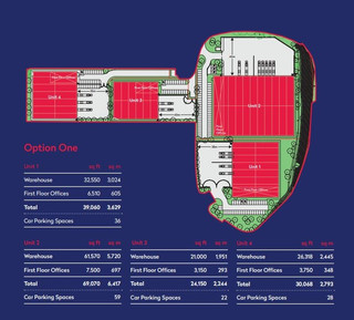 Site Plan for Reading International Logistics Park - Reading International Logistics Park, Reading - Industrial unit for rent - 3,150 to 155,289 sq ft