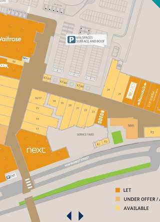 Site Plan - Old Market, Hereford - Shop for rent - 585 to 18,675 sq ft