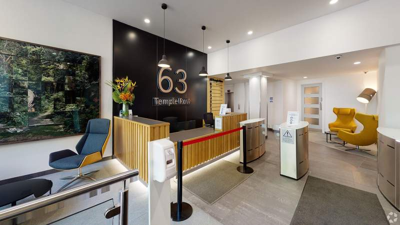 Reception - 63 Temple Row, Birmingham - Office for rent - 4,152 to 8,308 sq ft