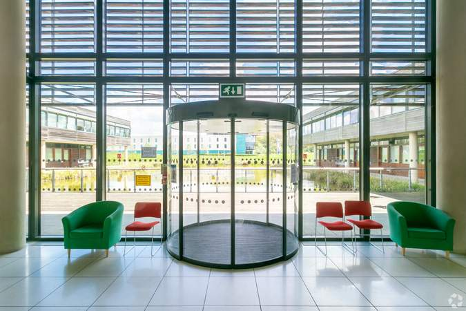 View of Water Feature from Reception - Basepoint Business And Innovation Centre, Butterfield Technical Park, Luton - Co-working space for rent - 50 to 53,980 sq ft