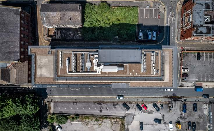 Aerial Look-down - 120 Bark St, Bolton - Serviced office for rent - 50 to 7,620 sq ft