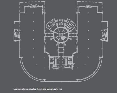 Typical Floor Plan - Eagle 2, Eagle Court Business Park, Birmingham - Office for rent - 5,916 to 21,948 sq ft