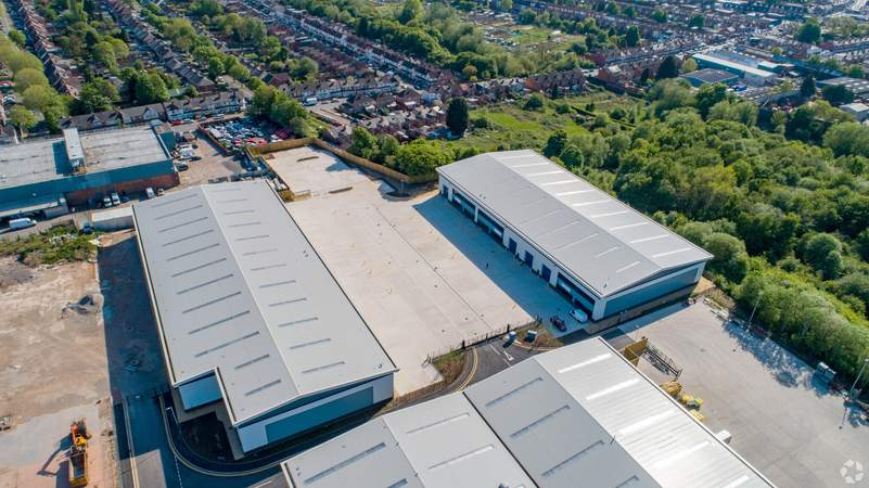 Aerial - Units 2D-2G, Mucklow Park Tyseley, Birmingham - Industrial unit for rent - 5,230 to 42,002 sq ft