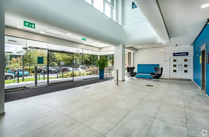Main Entrance - Atrium - Adamson House, Towers Business Park, Manchester - Co-working space for rent - 200 to 16,249 sq ft