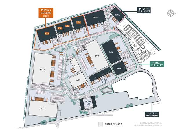 Site Plan - L34, Electric Ave, St Modwen Park Lincoln, Lincoln - Industrial unit for rent - 33,738 to 33,631 sq ft