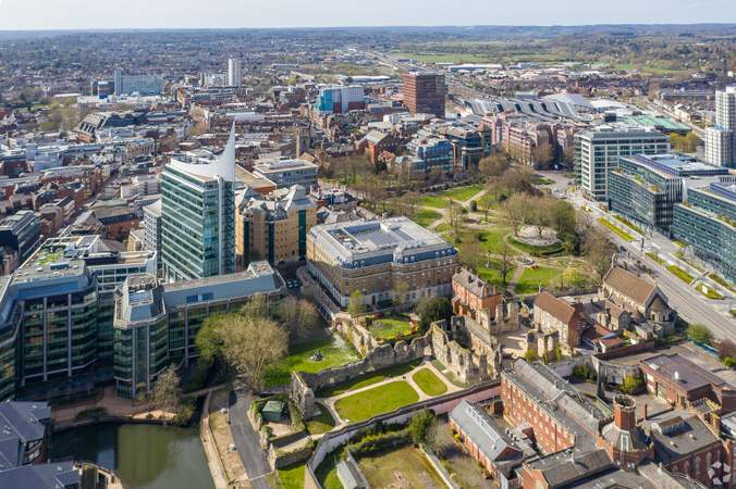 Aerial View Showing Neighbourhood - The Blade, Reading - Office for rent - 50 to 8,407 sq ft