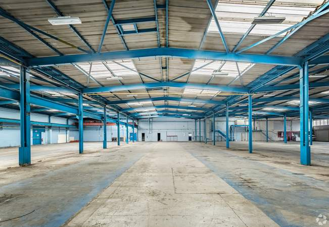 Warehouse View - Unit 1, Central Ave, Warrington - Industrial unit for rent - 11,230 to 56,000 sq ft