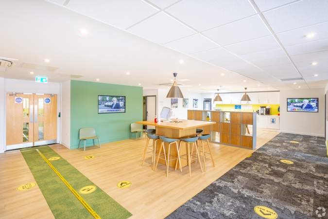 Reception leading to kitchen - Conway House, Gloucester - Co-working space for rent - 50 to 17,516 sq ft