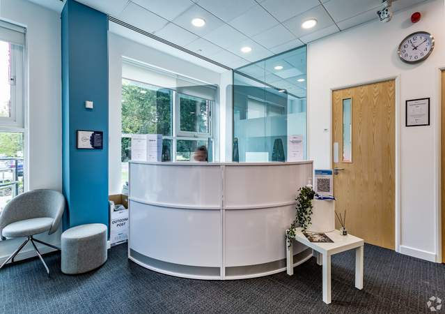 Reception Desk - Adamson House, Towers Business Park, Manchester - Co-working space for rent - 200 to 16,249 sq ft