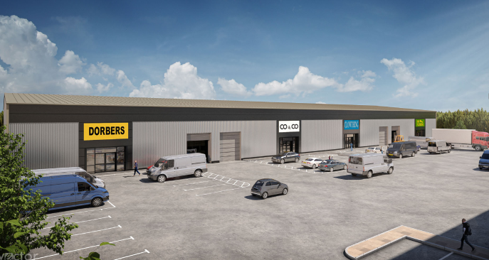 Front page CGI - Beacon Trade Park, Units 3-6, Fleet - Industrial unit for rent - 8,751 to 45,703 sq ft