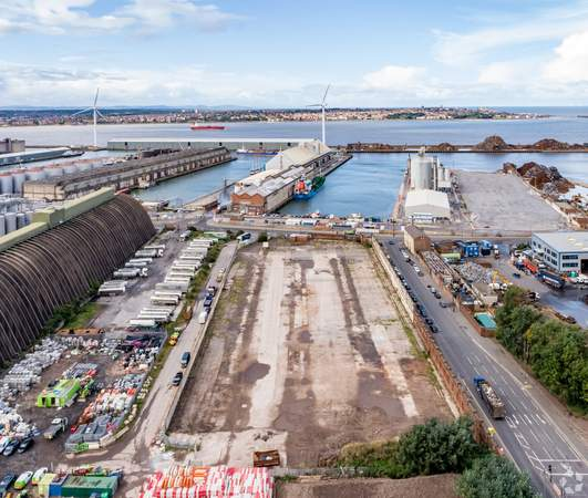 View towards Docks and Birkenhead - Land at Regent Rd, Liverpool - Commercial land plot for sale - 4.14 acres