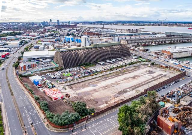 View towards Bramley Moore Development - Land at Regent Rd, Liverpool - Commercial land plot for sale - 4.14 acres