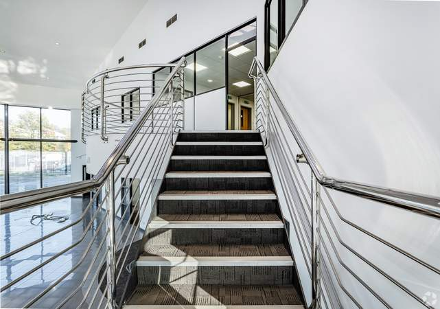 Staircase View - Appleyard Jaguar, Bradford - Shop for rent - 14,790 sq ft