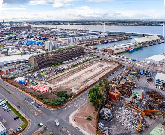 View towards Docks Area - Land at Regent Rd, Liverpool - Commercial land plot for sale - 4.14 acres