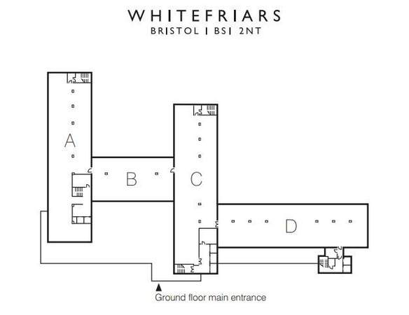 Floor Plan - Whitefriars, Bristol - Office for rent - 1,351 to 3,172 sq ft