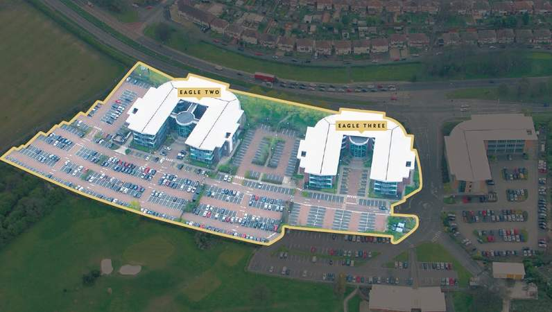Aerial - Eagle 2, Eagle Court Business Park, Birmingham - Office for rent - 5,916 to 21,948 sq ft