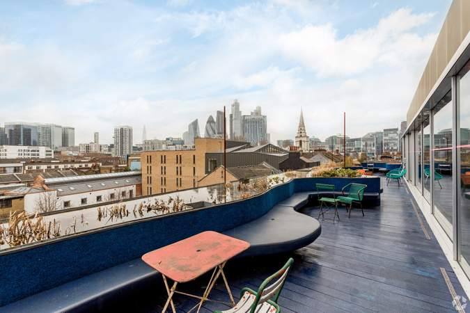 Roof Terrace - Second Home Spitalfields, London - Co-working space for rent - 120 to 1,900 sq ft