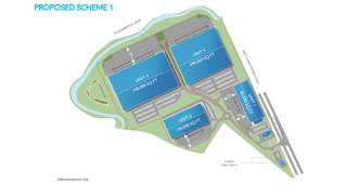 Site Plan for Proposed Scheme 1 - 2